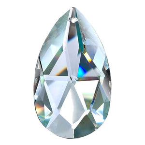 Almond Crystal 3.5 inch Clear Prism with One Hole on Top