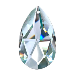 Almond Crystal 3 inch Clear Prism with One Hole on Top