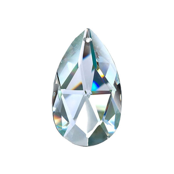 Almond Crystal 1.5 inch Clear Prism with One Hole on Top