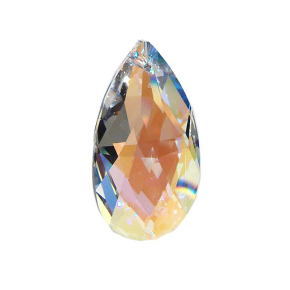 Swarovski Strass crystal 50mm (2 in.) Aurora Borealis Almond prism