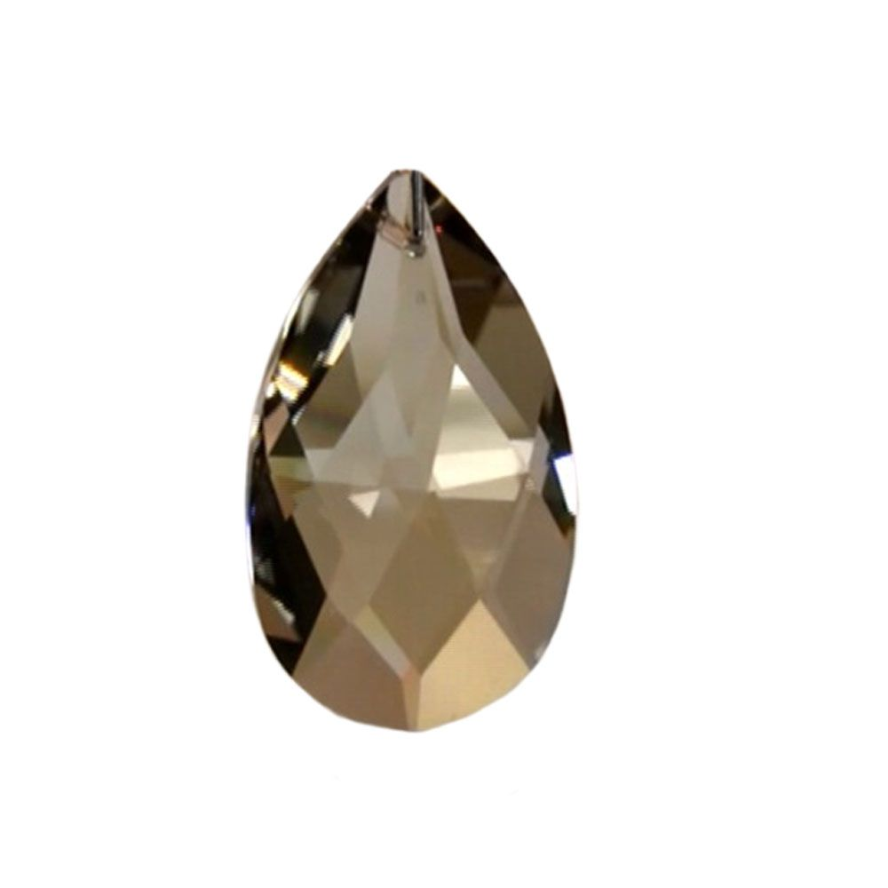 Swarovski Strass crystal 50mm (2 in.) Golden Teak Almond prism