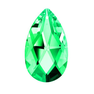 Swarovski Strass crystal 50mm (2 in.) Light Peridot (Light Green) Almond prism