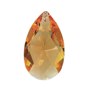 Swarovski Strass crystal 38mm (1.5 in.) Topaz Almond prism