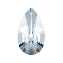 Load image into Gallery viewer, Modern Almond Crystal 2 inch Clear Prism with One Hole on Top