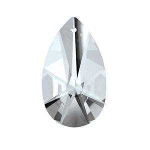 Swarovski Strass crystal 63mm (2.5 in.) Silver Shade Almond prism