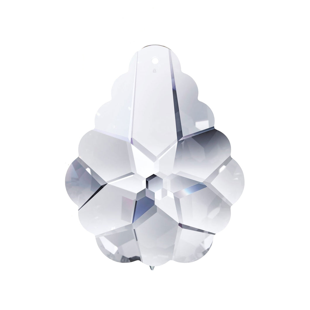Swarovski Strass Crystal 63mm (2.5 inches) Silver Shade Arabesque Pendeloque prism