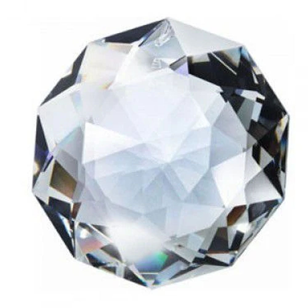 Swarovski Strass Crystal 50mm (2 inches) Clear Dahlia Faceted Prism