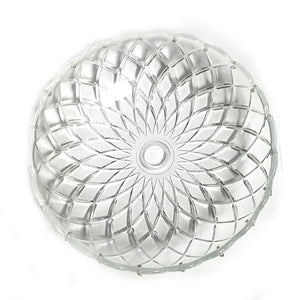 Crystal Bobeche 10 inches Clear with 27mm Center Hole, 20 Gold Pins