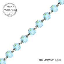 Load image into Gallery viewer, Crystal Garland Swarovski Strass Antique Green Octagon Lily Prisms Crystal Strand
