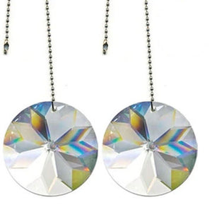Crystal Fan Pully 40mm Clear Sun Shine Round Prism Magnificent Brand