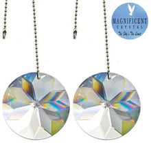 Load image into Gallery viewer, Crystal Fan Pully 40mm Clear Sun Shine Round Prism Magnificent Brand
