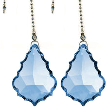 Load image into Gallery viewer, Crystal Fan Pully 50mm Sapphire Pendeloque Prism Magnificent Brand