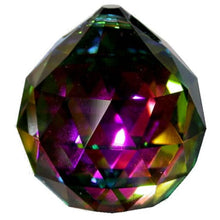 Load image into Gallery viewer, Faceted Ball Crystal 70mm Vitrail Prism with One Hole on Top