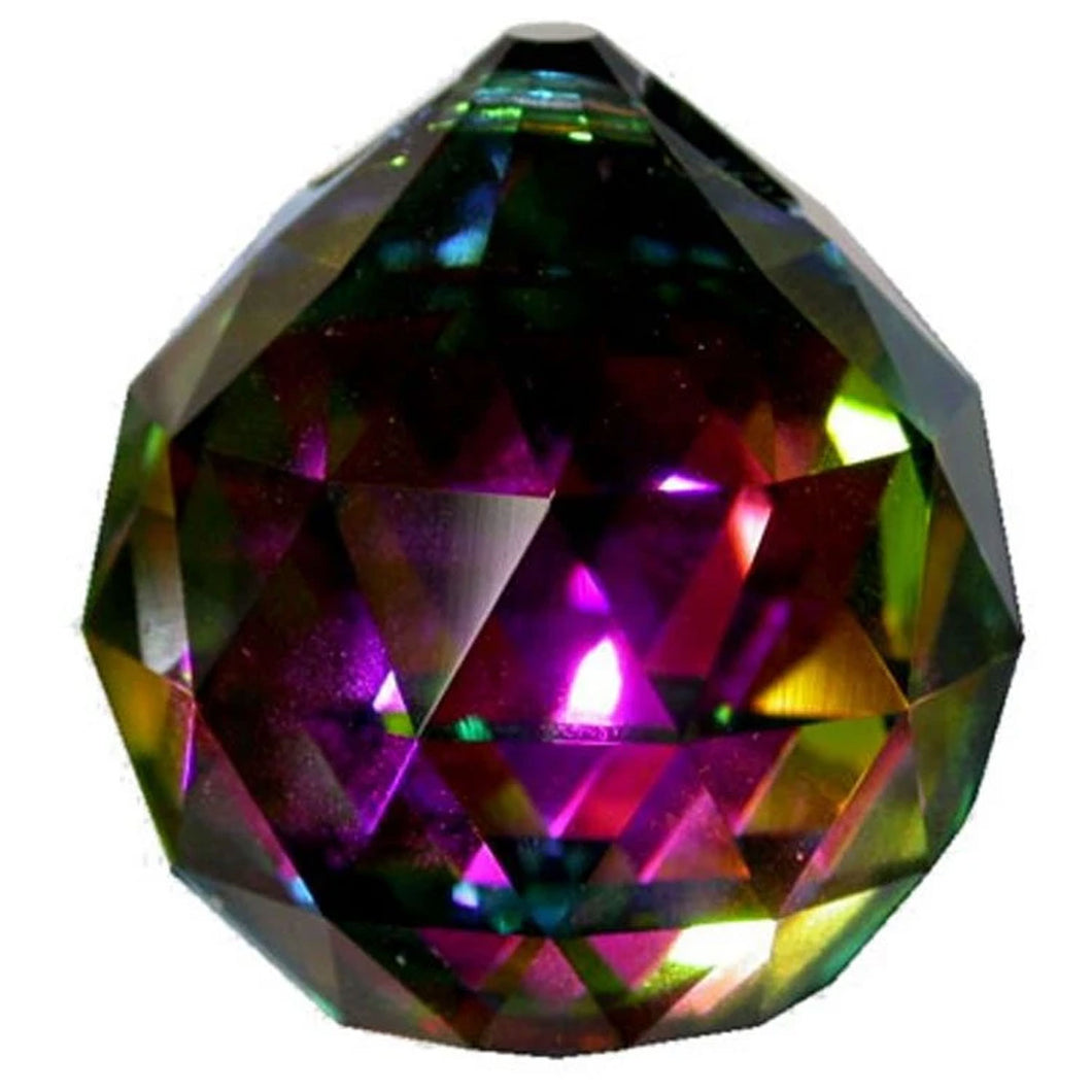 Faceted Ball Crystal 70mm Vitrail Prism with One Hole on Top