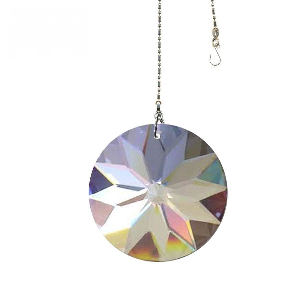 Crystal Suncatcher 40mm Clear Sun Disk Prism Magnificent Brand