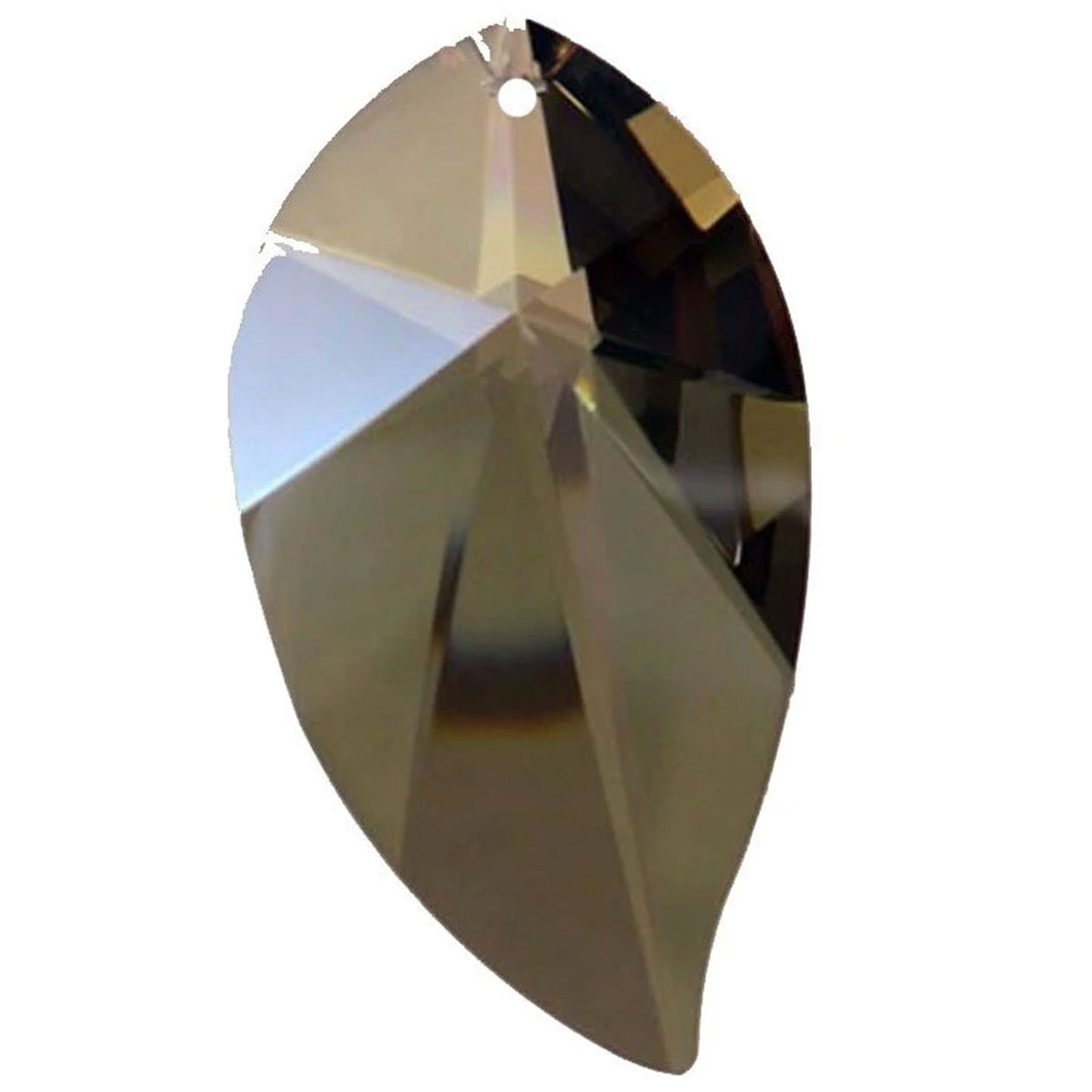 Leaf Crystal 4 inches Golden Teak Prism with One Hole on Top