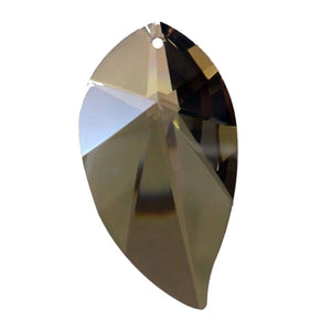 Leaf Crystal 3.5 inches Golden Teak Prism with One Hole on Top