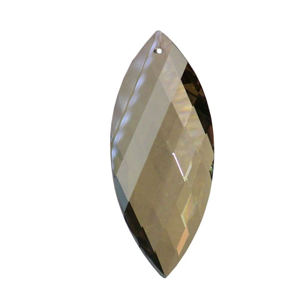 Twist Crystal 3 inches Golden Teak Prism with One Hole on Top