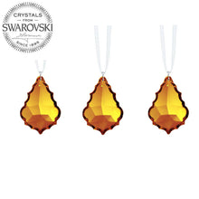 Load image into Gallery viewer, Crystal Prism SunCatchers for Windows Swarovski Crystals Topaz Decorative Pendants, 3 Pcs