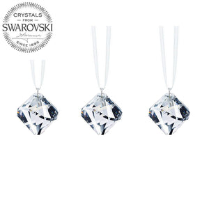 Swarovski Strass Crystal Prism Set 3, Crystal Clear Ball Pendant 20mm Faceted Ball-Form Prisms Crystal Ornaments Sun Catcher Rainbow Maker