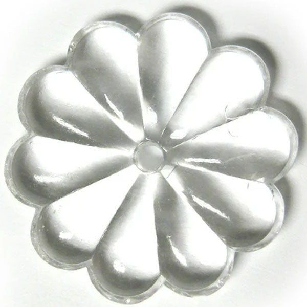 Rosette Bead Crystal 30mm Clear Prism with Hole Through