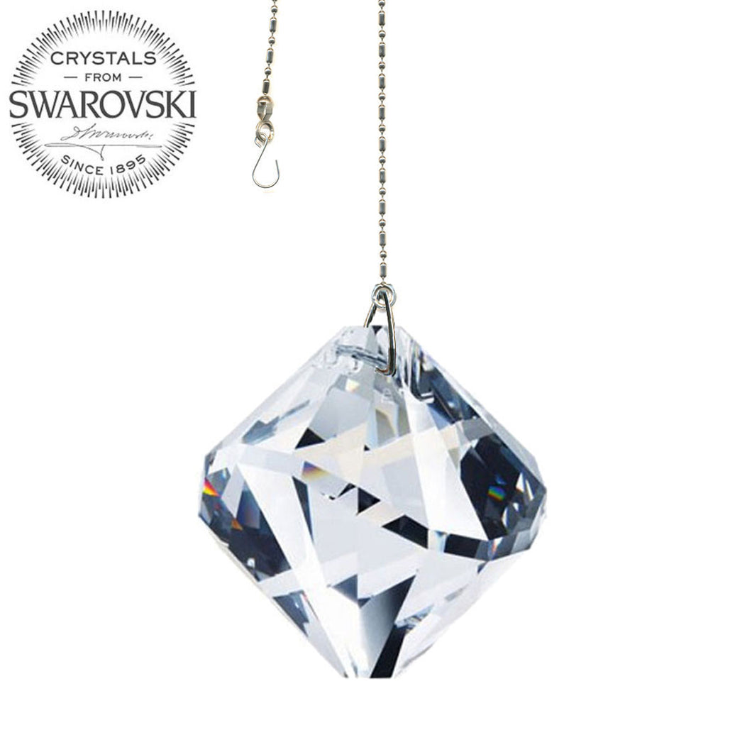 Crystal Suncatcher 40mm Swarovski Strass Clear Ball Form Prism