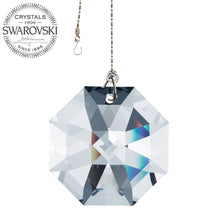Load image into Gallery viewer, Crystal Suncatcher 2 inch Swarovski Strass Clear Octagon Lily Prism