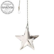 Load image into Gallery viewer, Crystal Suncatcher 28mm Swarovski Strass Clear Star Prism
