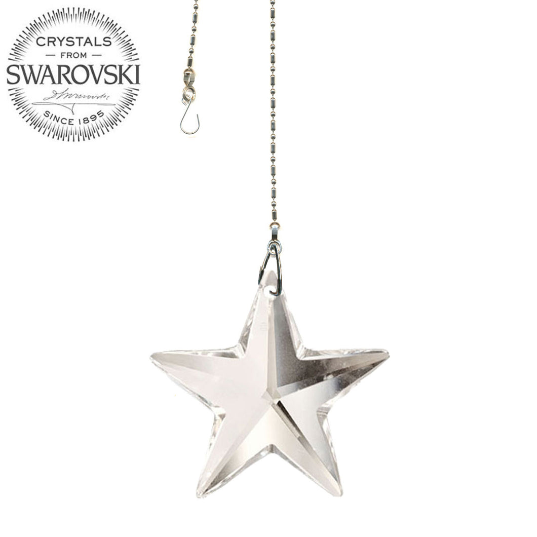 Crystal Suncatcher 28mm Swarovski Strass Clear Star Prism