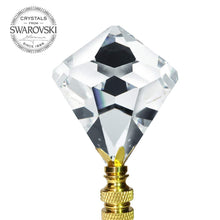 Load image into Gallery viewer, Crystal Finial Swarovski Strass Clear 30mm Faceted Cone Shape Prism Dazzling Lamp Shade Finial