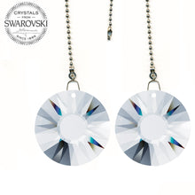 Load image into Gallery viewer, Ceiling Fan Pull Chain 40mm Swarovski Clear Sun Prisms Decorative Fan Chain Pulls Set of 2