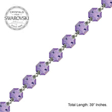 Load image into Gallery viewer, Crystal Garland Swarovski Strass Blue Violet Octagon Lily Prisms Crystal Strand