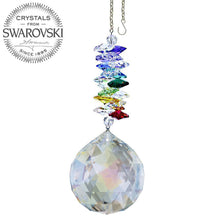 Load image into Gallery viewer, Crystal Ornament 5 inch Suncatcher Aurora Borealis Ball Crystal Rainbow Maker with Swarovski crystal Prisms