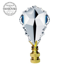 Load image into Gallery viewer, Lamp Finial Swarovski Crystal Clear French Pendant Prism Lamp Shade Finial