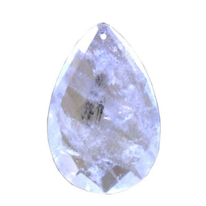 Brazilian Quartz 4-inch Clear Almond Rock Crystal Prism
