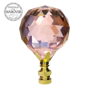40mm Rosaline Faceted Ball Prism Lamp Shade Finial with Amazing Shine & Clarity