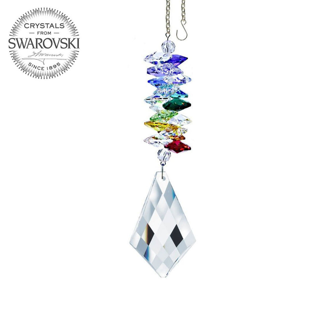 Crystal Suncatcher 5-inch Ornament Clear Kite Crystal Rainbow Maker Made with Swarovski crystals