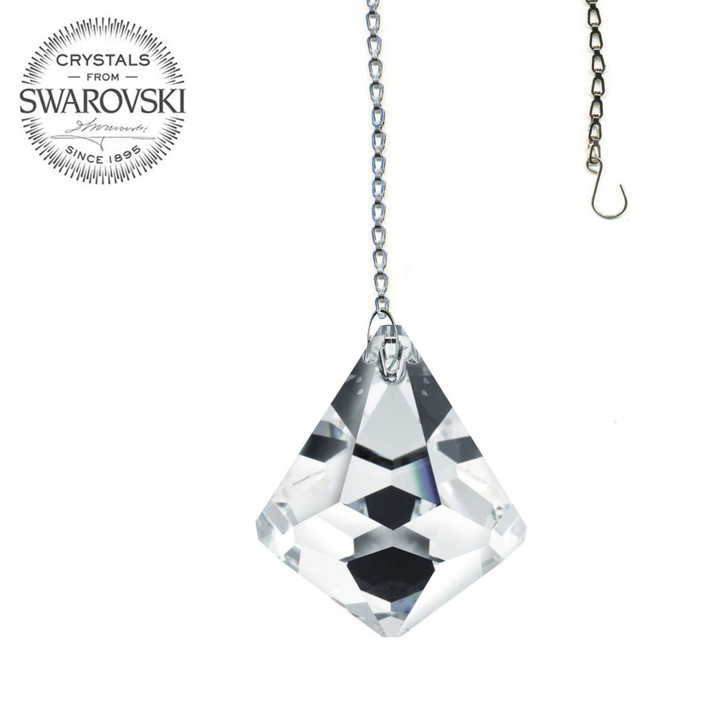Crystal Suncatcher 30mm Swarovski Strass Clear Cone Prism