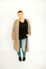 Full Length Mocha Cardi - Plus