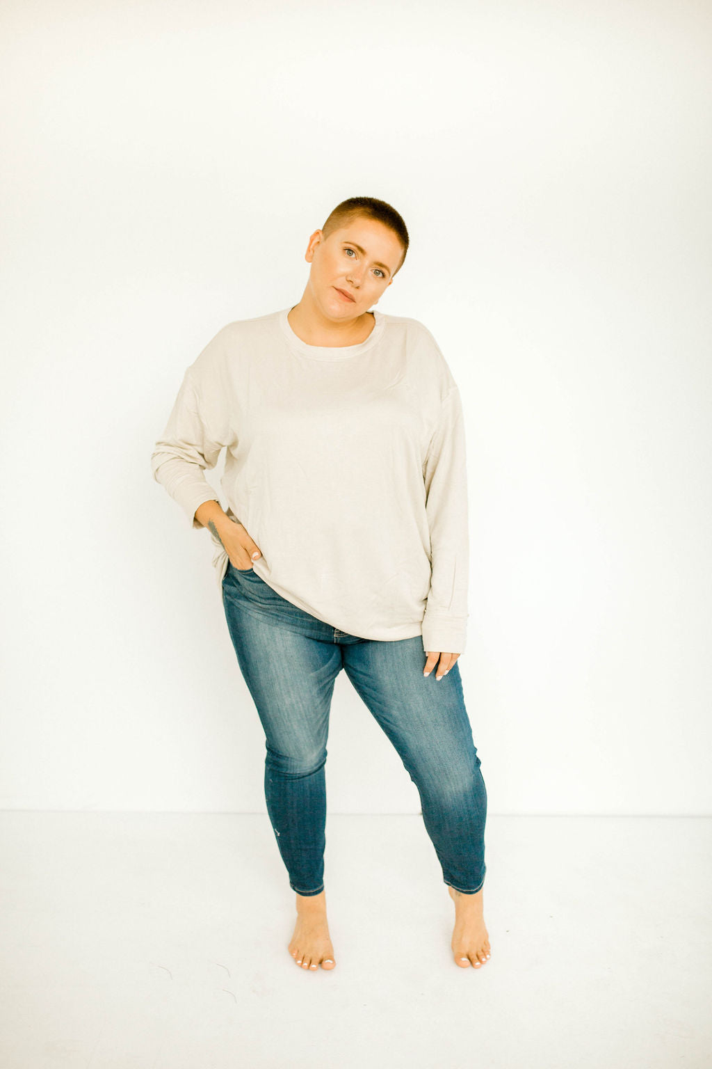 Oversized Slouch Top - Plus
