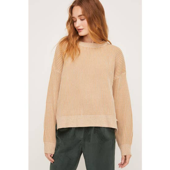 Taupe Ribbed Sweater
