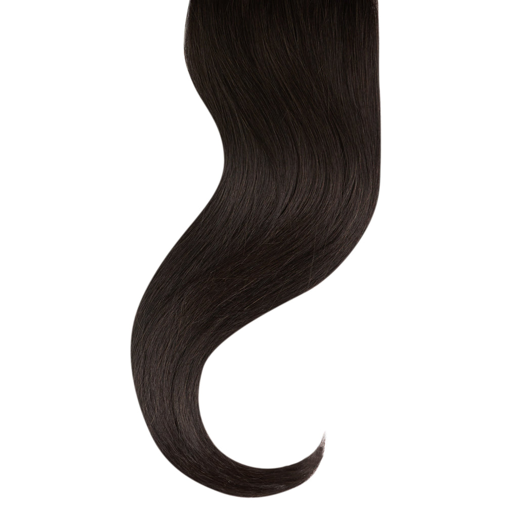 "Tape In Natural Hair Extensions. BARCELÓ Professional Tape-In 18"" -   Tape-In 24"" Darkets Brown 2 Natural Straight Hair Extensions. USA NEXT WORKING DAY DELIVERY ..."