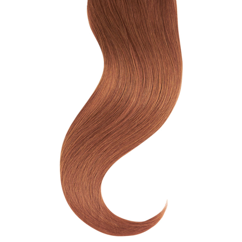 "Tape In Natural Hair Extensions. BARCELÓ Professional Tape-In 18"" -   Tape-In 24"" MEDIUM GINGER #33 Natural Straight Hair Extensions. USA NEXT WORKING DAY DELIVERY ..."