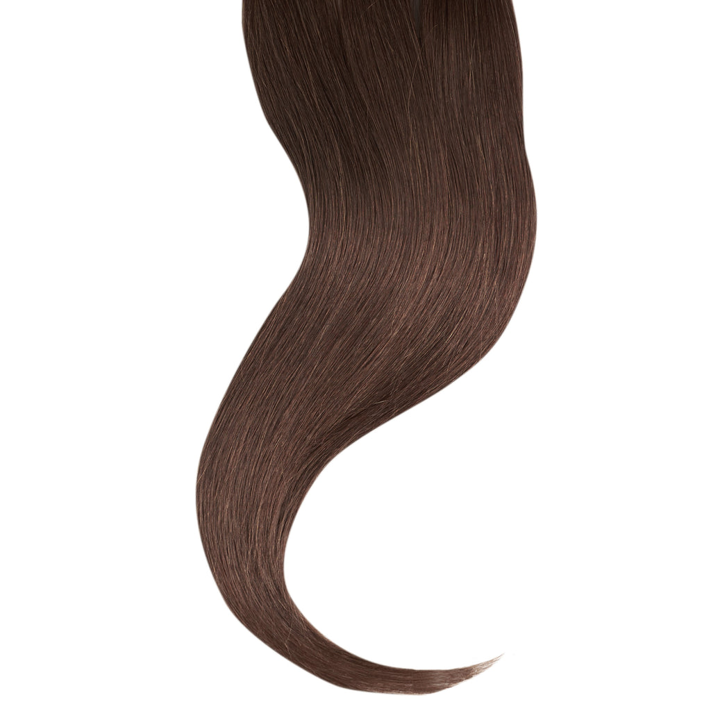 "Tape In Natural Hair Extensions. BARCELÓ Professional Tape-In 18"" -   Tape-In 24"" Chesnut Brown #3 Natural Straight Hair Extensions. USA NEXT WORKING DAY DELIVERY ..."