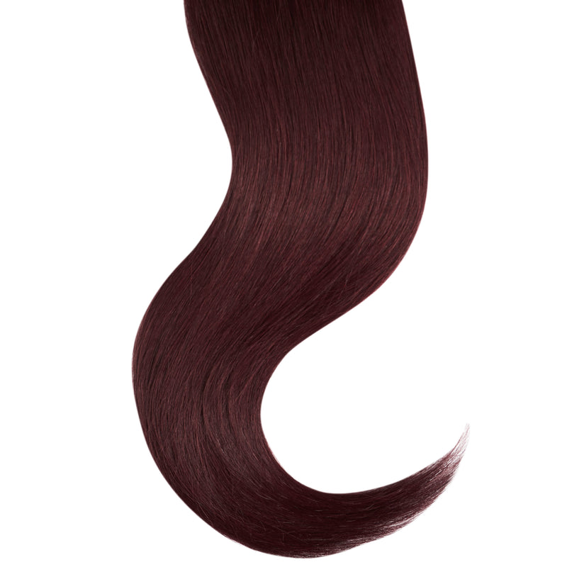 "Tape In Natural Hair Extensions. BARCELÓ Professional Tape-In 18"" -   Tape-In 24"" MERLOT #530 Natural Straight Hair Extensions. USA NEXT WORKING DAY DELIVERY ..."
