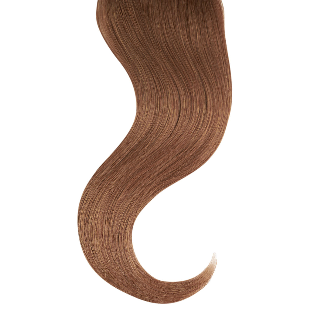 "Tape In Natural Hair Extensions. BARCELÓ Professional Tape-In 18"" -   Tape-In 24"" CARAMEL #6 Natural Straight Hair Extensions. USA NEXT WORKING DAY DELIVERY ..."
