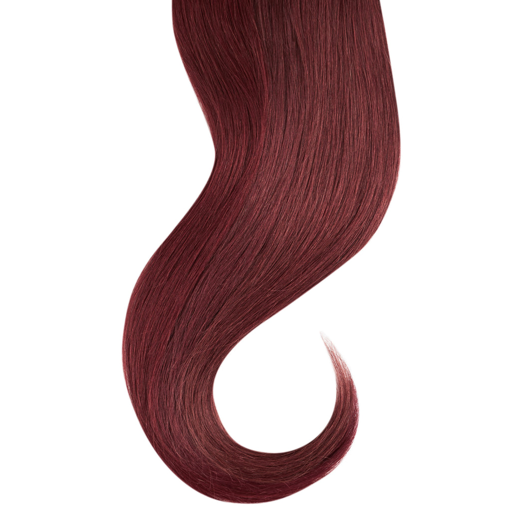 "Tape In Natural Hair Extensions. BARCELÓ Professional Tape-In 18"" -   Tape-In 24"" TIFA RED  #99J CHERRY WINE Natural Straight Hair Extensions. USA NEXT WORKING DAY DELIVERY ..."