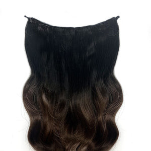 Magic Synthetic Clip in Hair Extensions Chocolate Dip Ombré (2TN10)