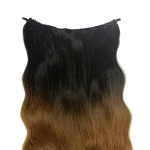 Magic Synthetic Clip in Hair Extensions Chocolate Dip Ombré (4TN27)