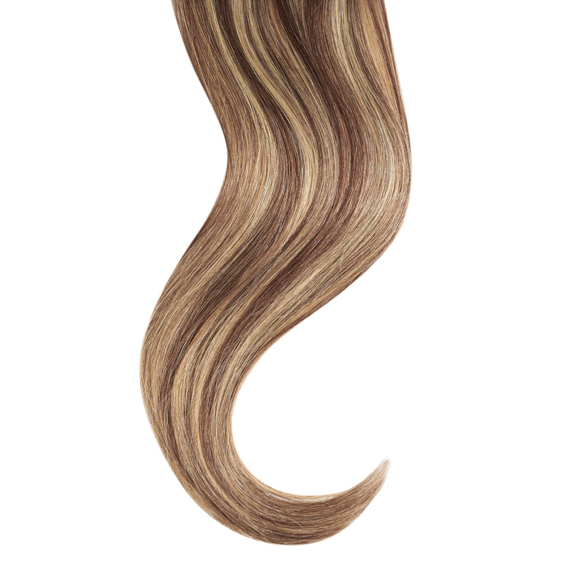 "Tape In Natural Hair Extensions. BARCELÓ Professional Tape-In 18"" -   Tape-In 24"" Pearl & Oak Highlights (3/613) Natural Straight Hair Extensions. USA NEXT WORKING DAY DELIVERY ..."